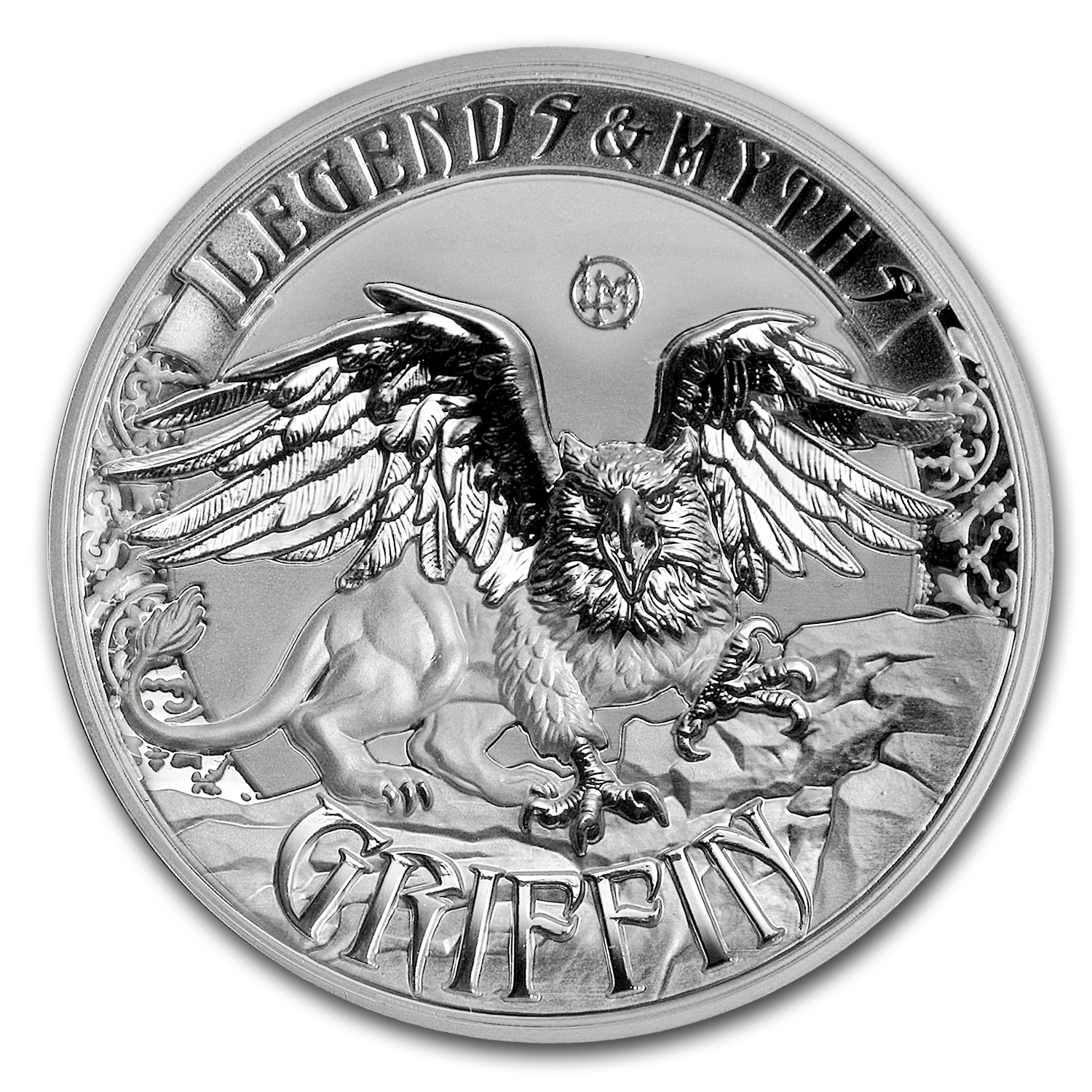 2016 Solomon Islands 2 oz Silver Rev Prf Legends & Myths: Griffin