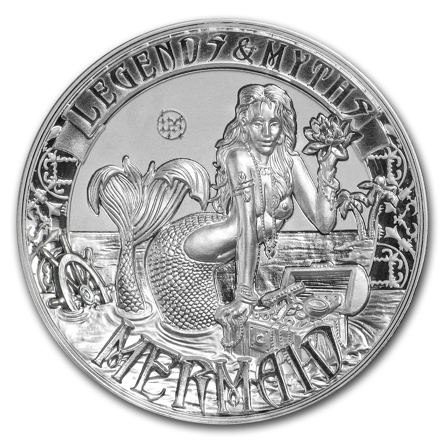 2016 Solomon Islands 2 oz Silver Rev Prf Legends & Myths: Mermaid