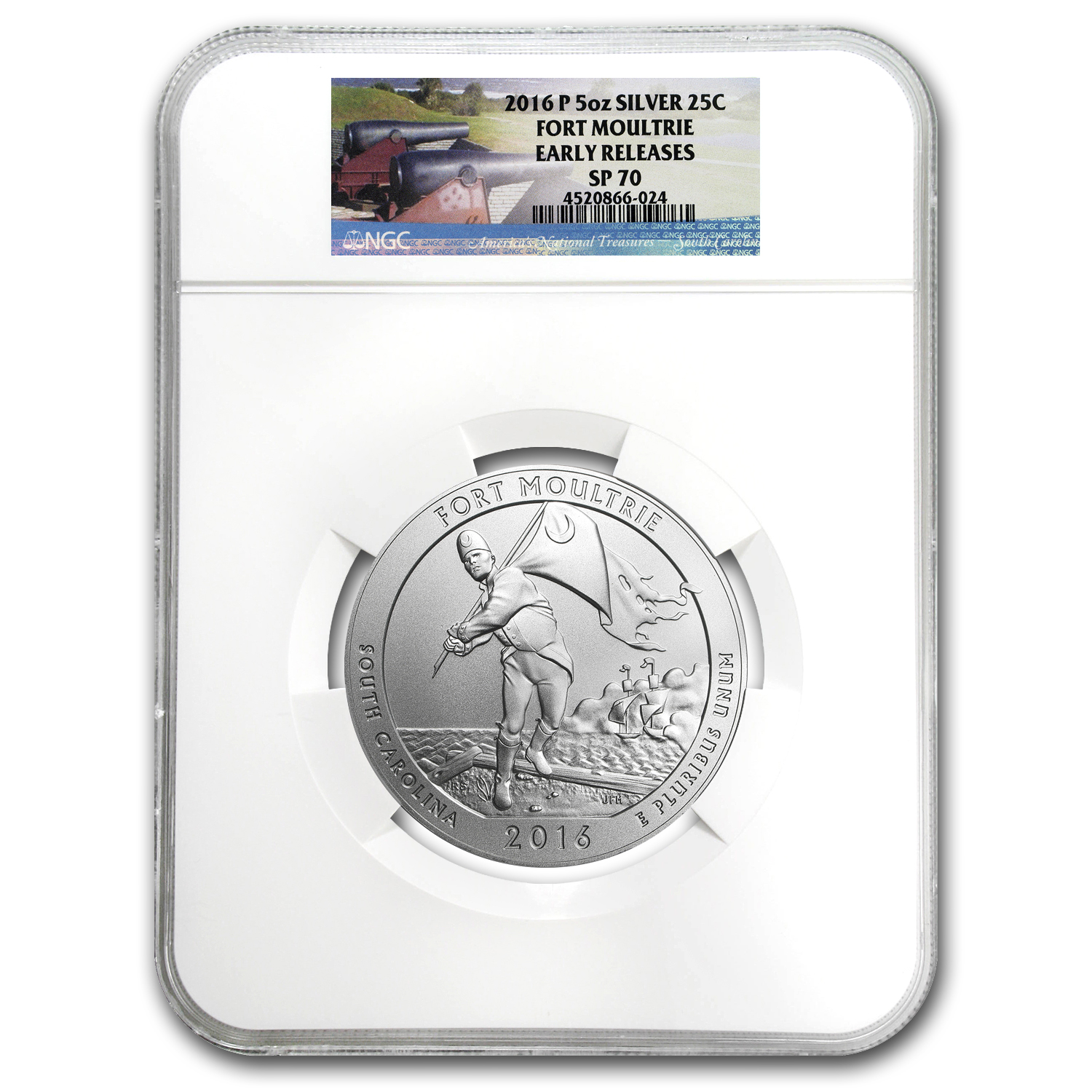 2016-P 5 oz Silver ATB Fort Moultrie SP-70 NGC (ER)