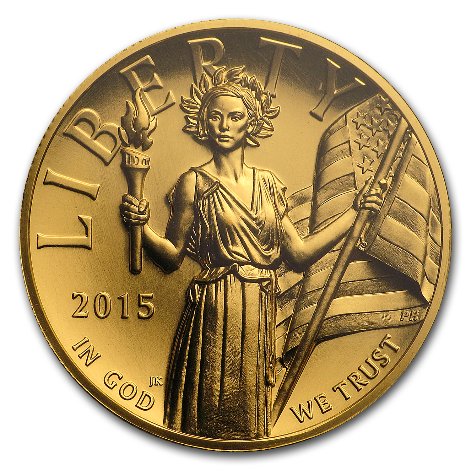 2015 High Relief American Liberty Gold MS-70 PL PCGS