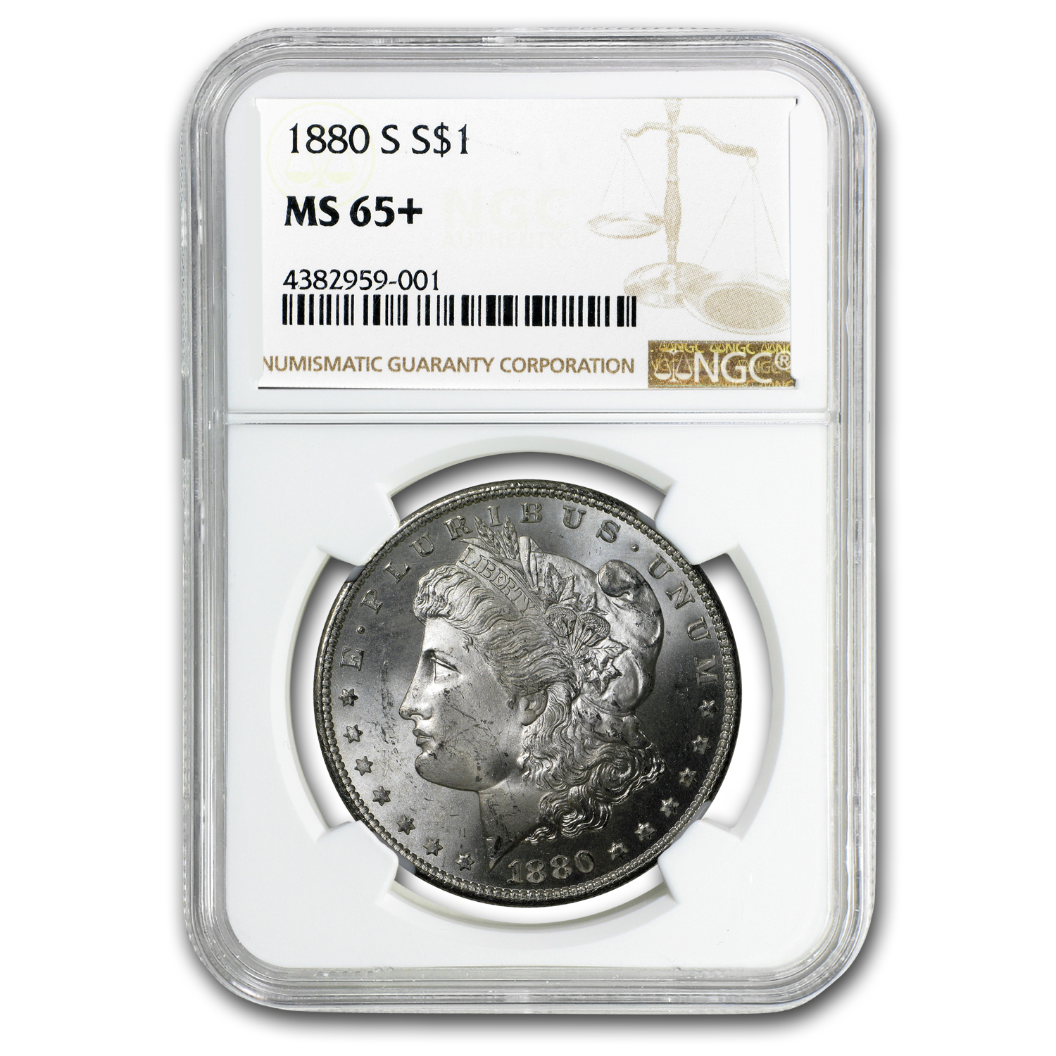 1880/9-S Morgan Dollar MS-65+ NGC (VAM-11, 0/9 Overdate Hot-50)