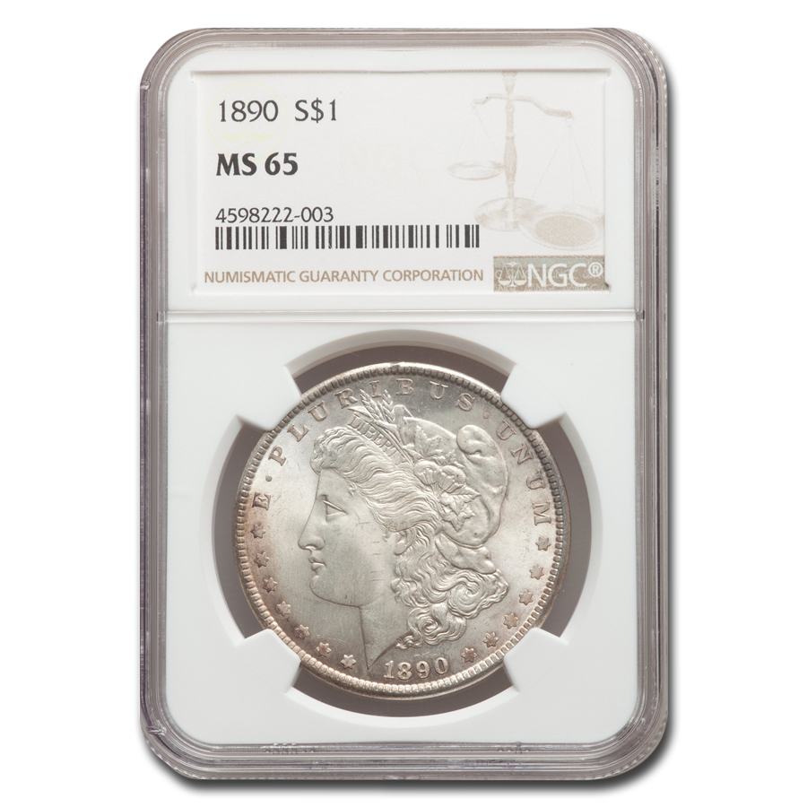 1890 Morgan Dollar MS-65 NGC