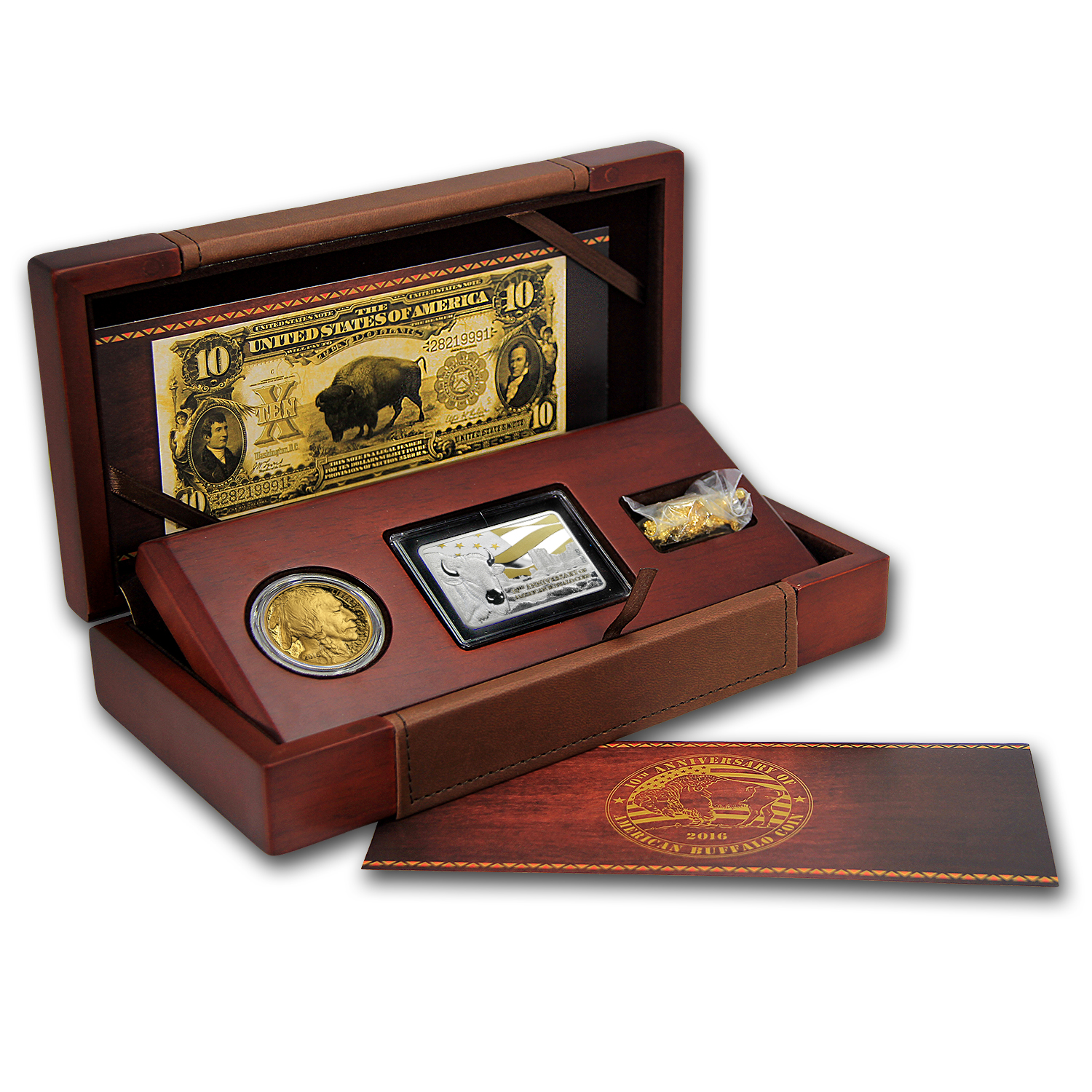 2016 American 1 Oz Proof Gold Buffalo 10th Anniversary Set