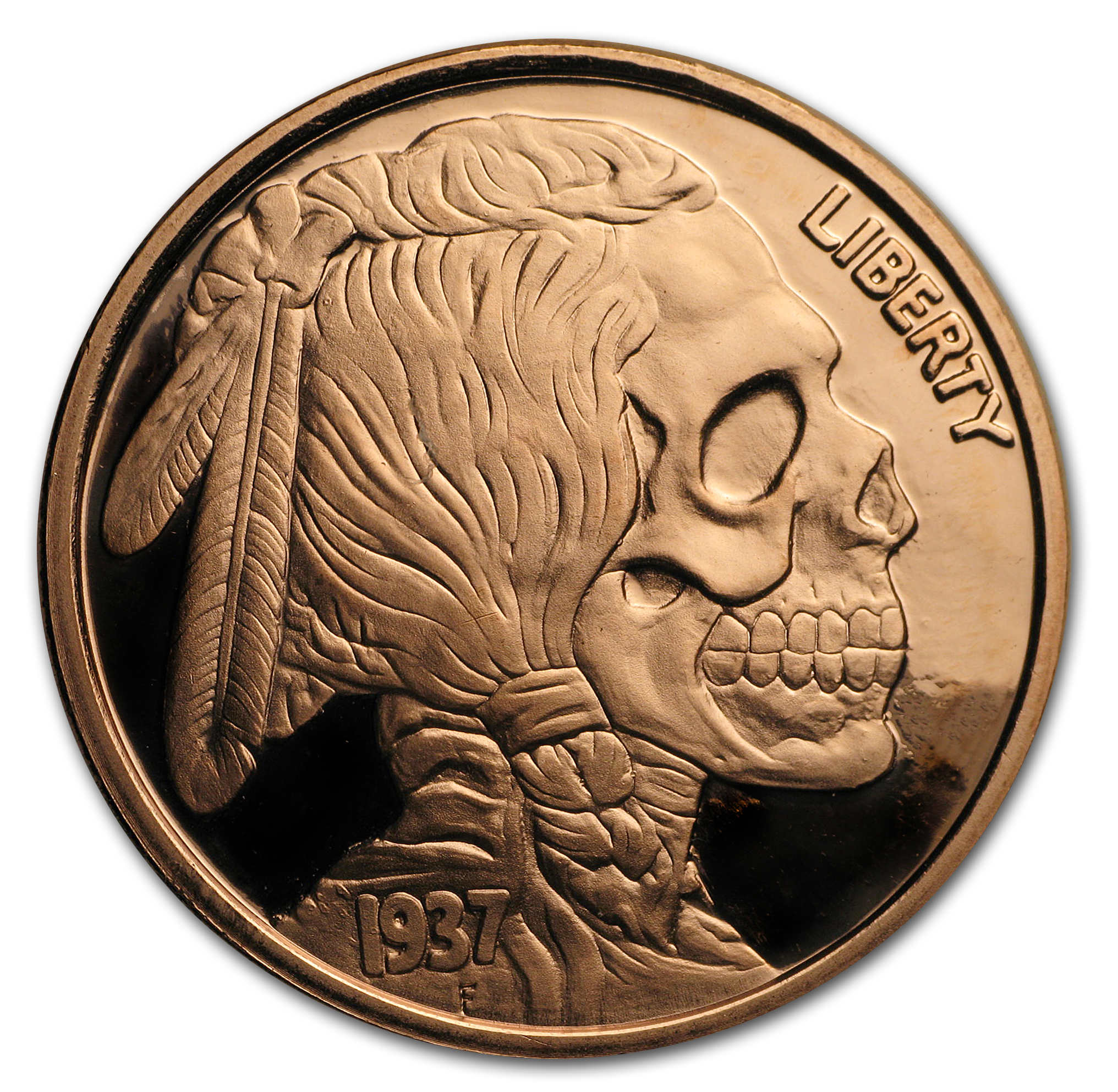1 oz Copper Round - United Snakes Series (Indian Skull)