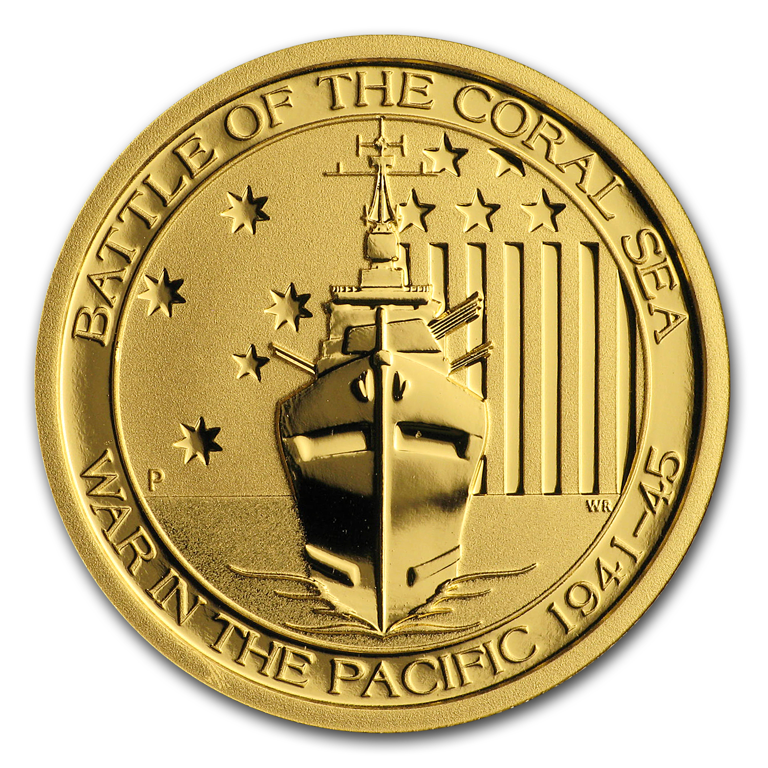 2014 Australia 1/4 oz Gold Battle of the Coral Sea BU