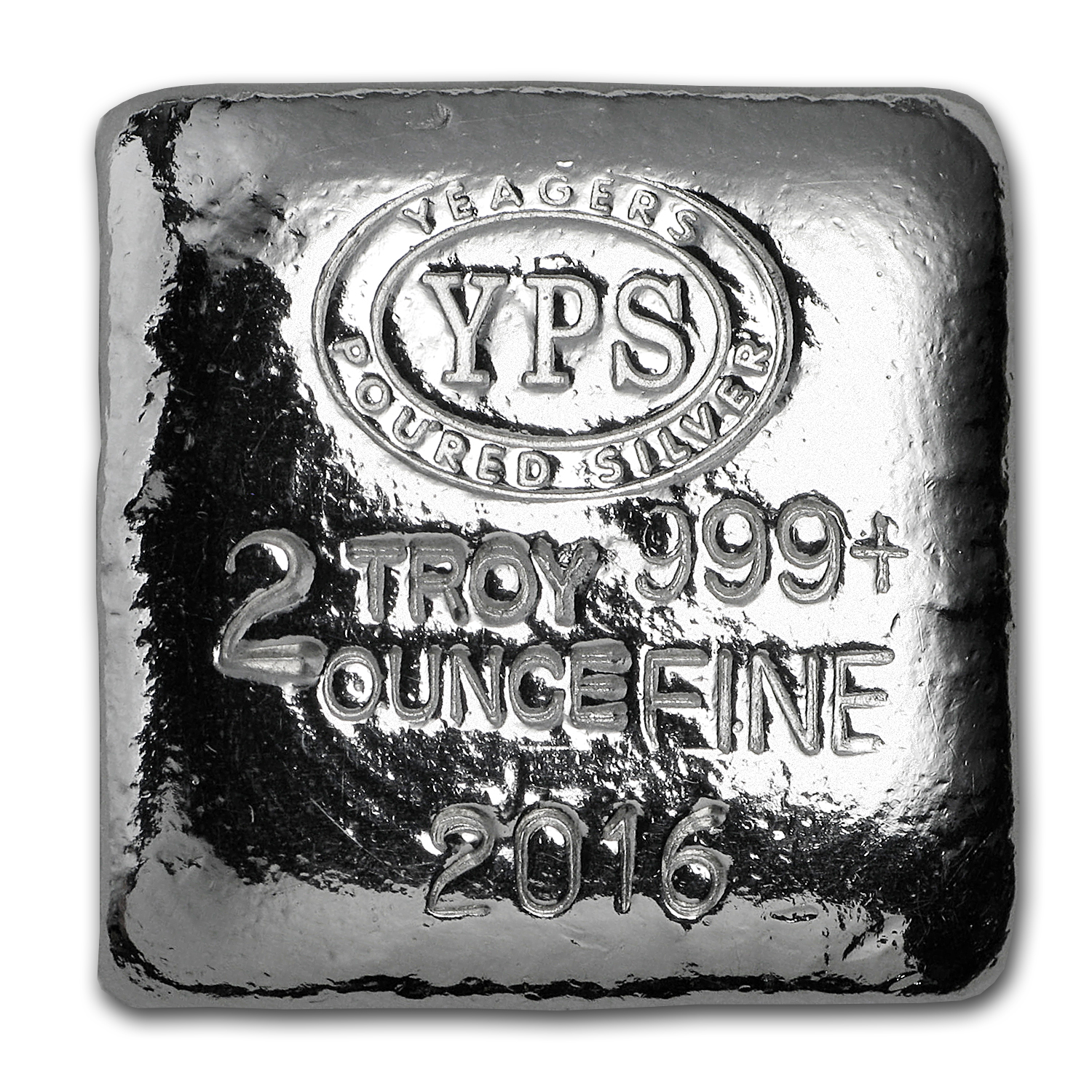 2 oz Silver - Yeager Poured Silver (Packaged Silver)