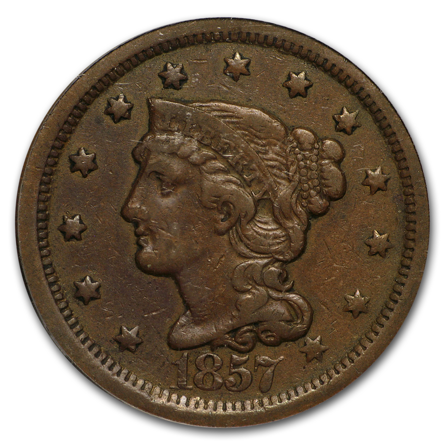 1857 Large Date Large Cent VF-35 PCGS