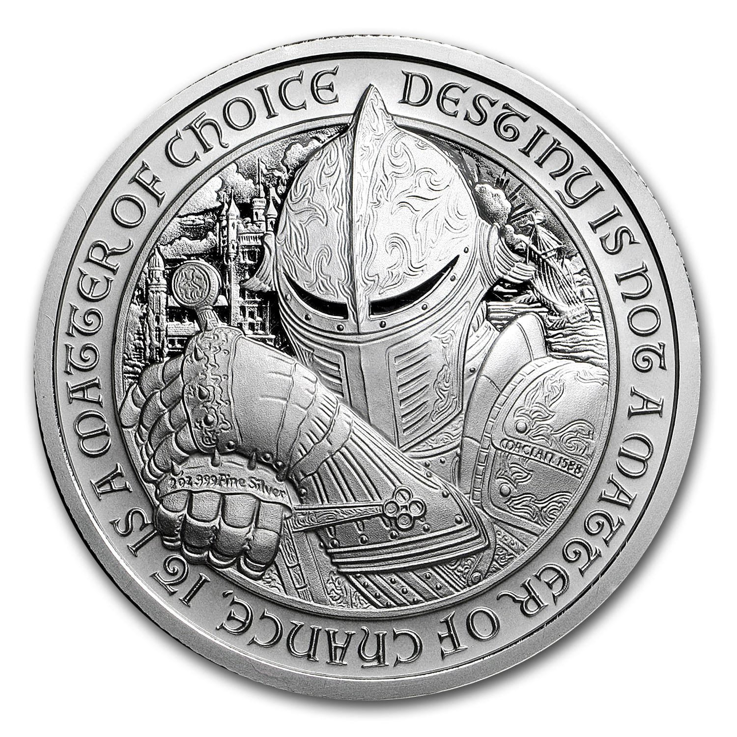 2 Oz Silver Round Destiny Knight 2 Oz Silver Rounds