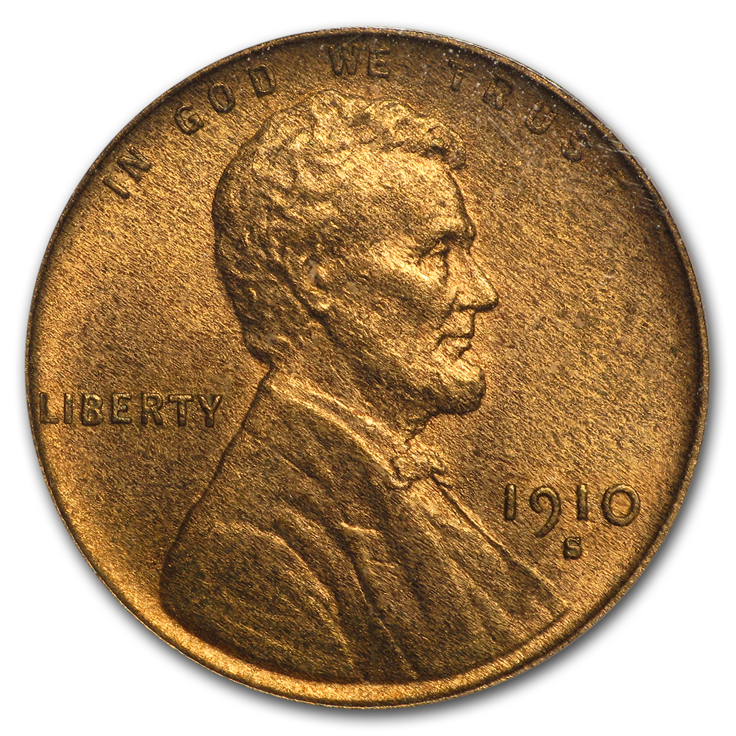 1910-S Lincoln Cent MS-65 PCGS (Red/Brown)