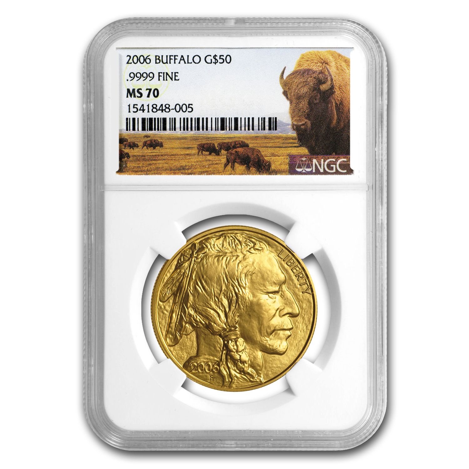 2006 1 oz Gold Buffalo MS-70 NGC (Buffalo Label)