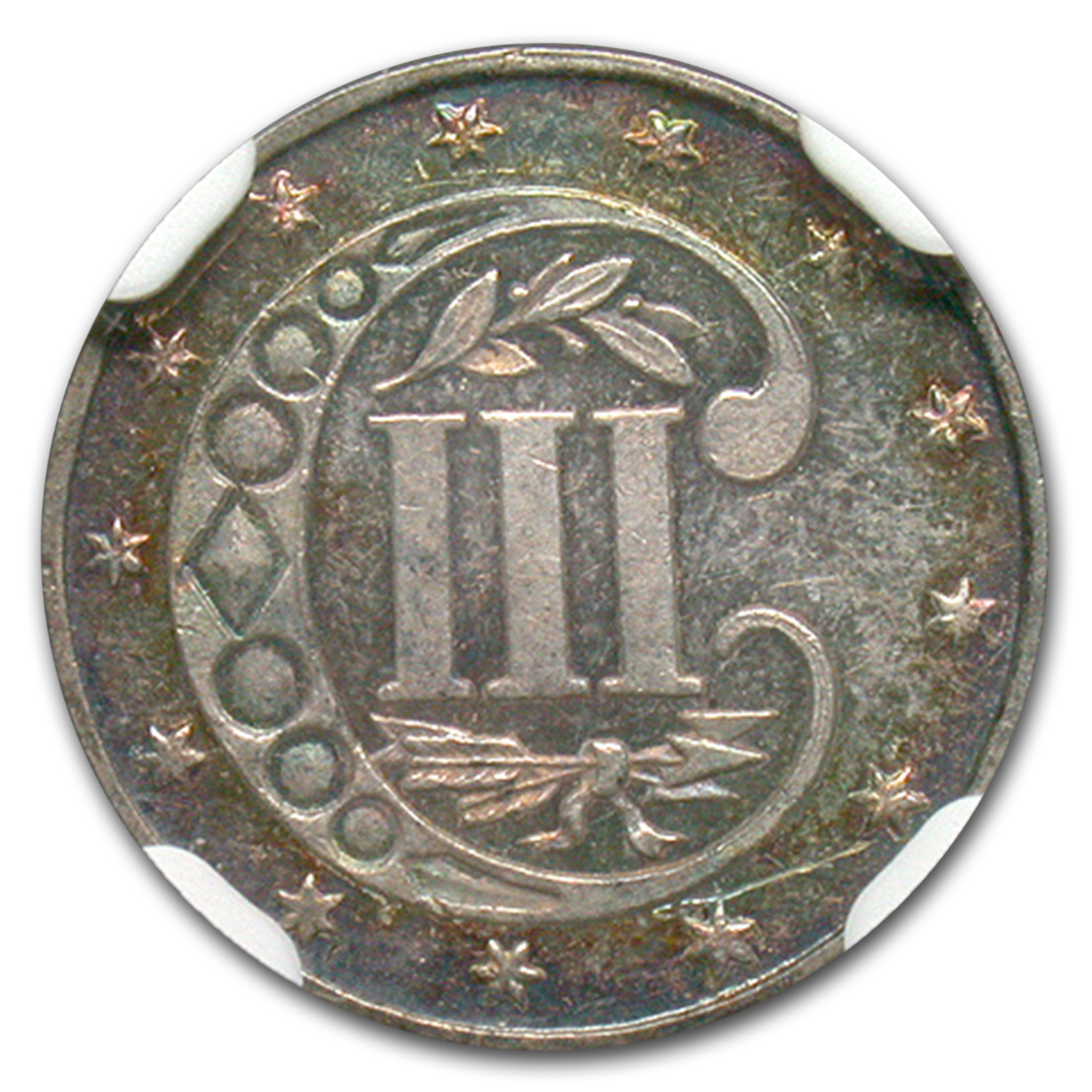 1873 Three Cent Silver PF-62 NGC