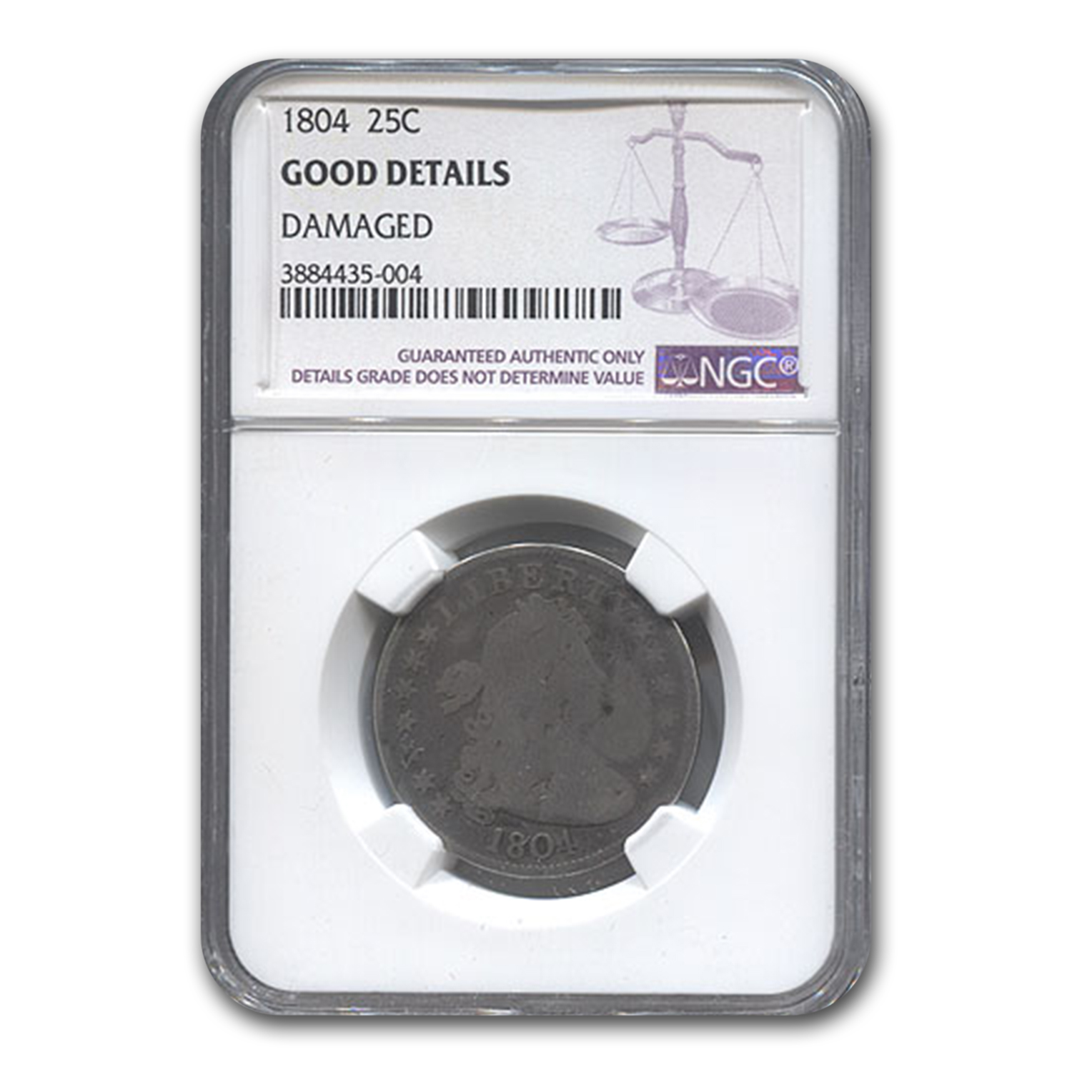 1804 Draped Bust Quarter Good NGC (Details)