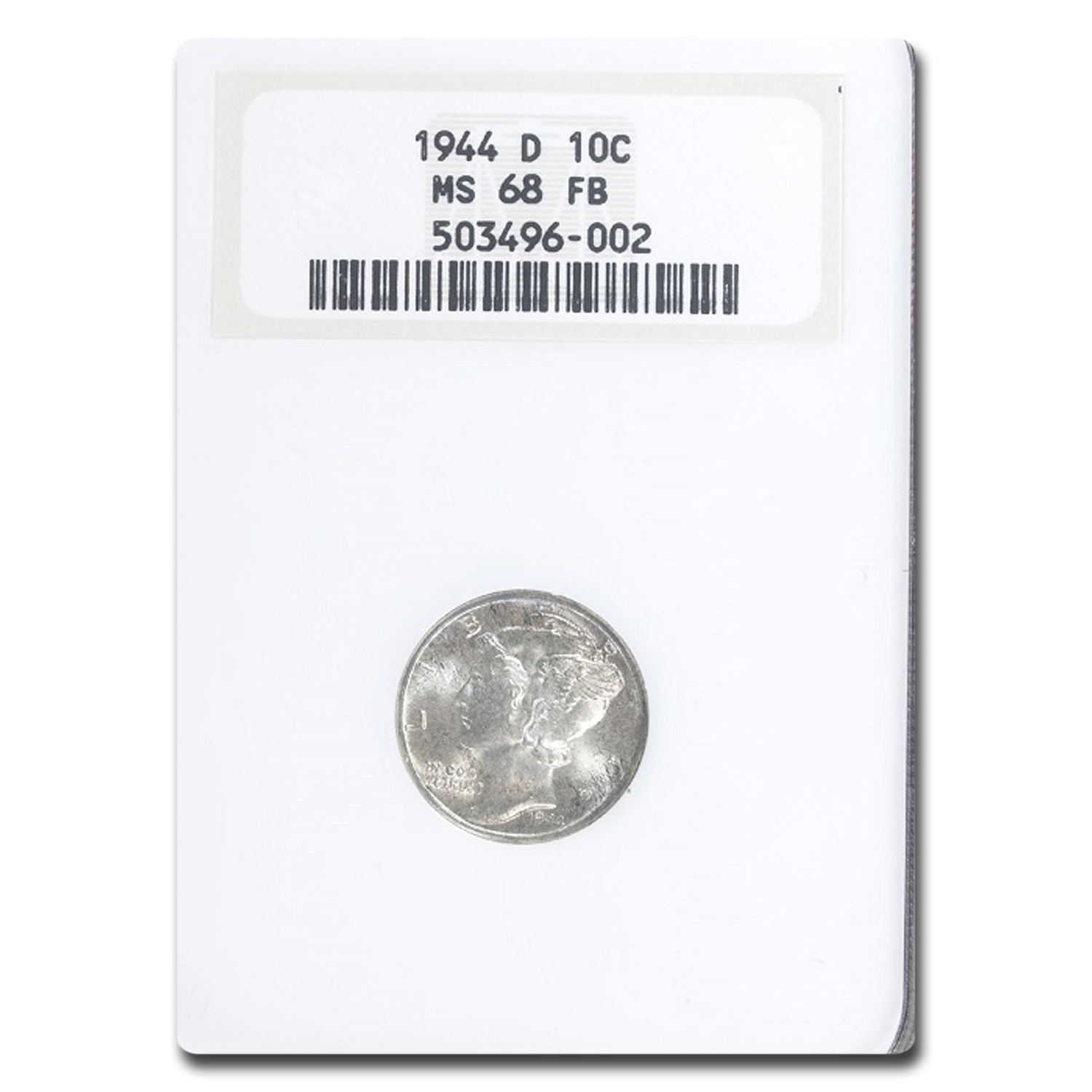 1944-D Mercury Dime MS-68 NGC (FB)