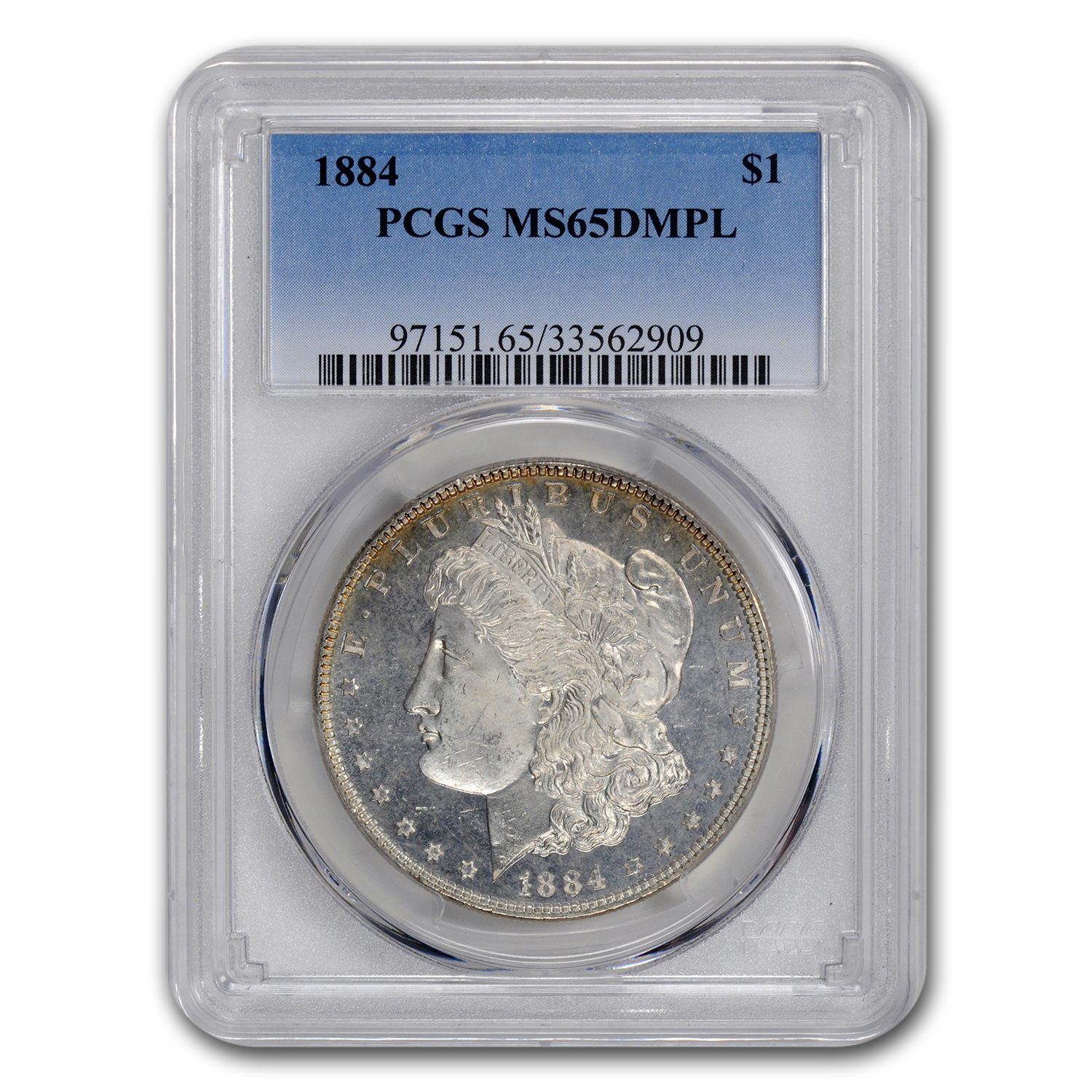 1884 Morgan Dollar MS-65 PCGS (DMPL)