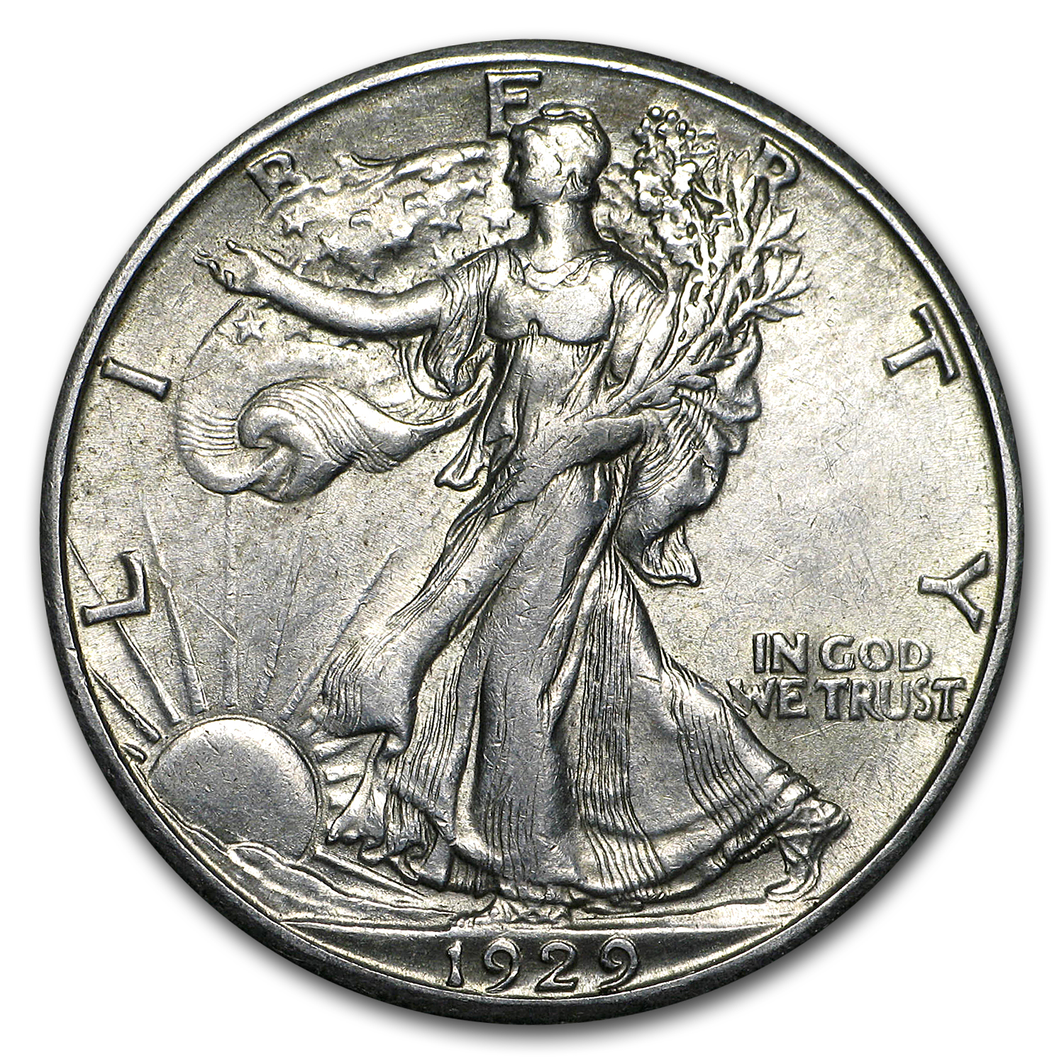 1929-S Walking Liberty Half Dollar AU