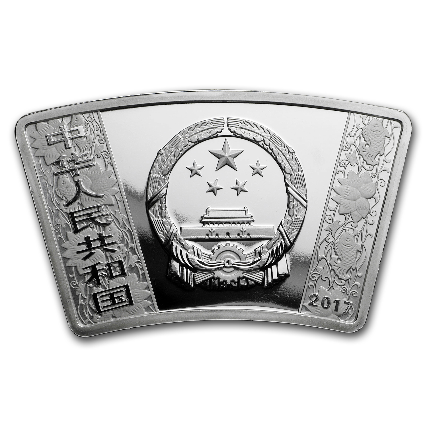 2017 China 1 oz Silver Rooster Proof Fan Coin (w/Box & COA)
