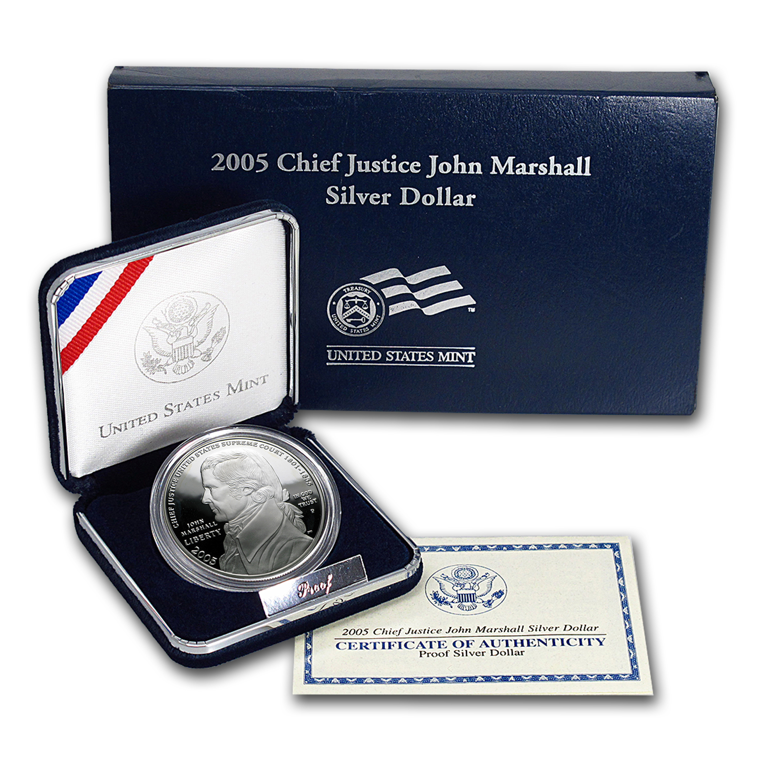 2005-P Chief Justice Marshall $1 Silver Commem Prf (w/Box & COA)