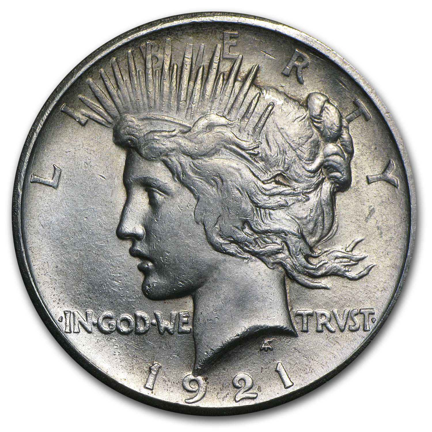 1921 Peace Dollar - Brilliant Uncirculated - High Relief
