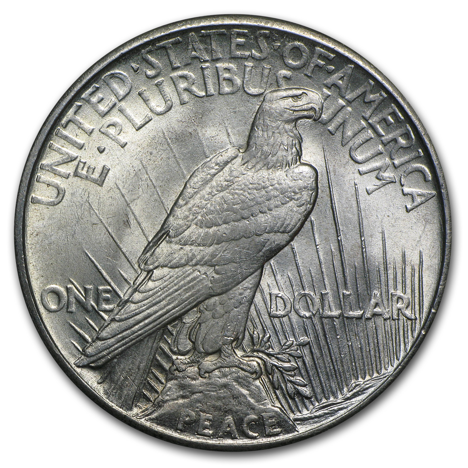 High Relief Peace Dollar 1921 Peace Dollar bu High