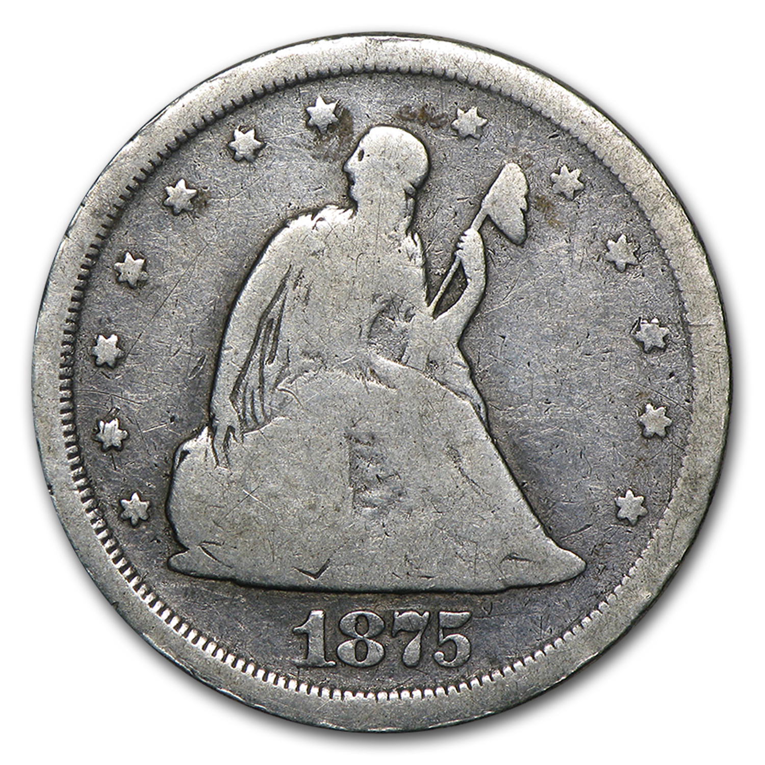 1875-S Twenty Cent Piece VG