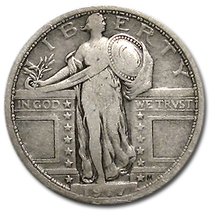 1917 (Variety I) Fine Standing Liberty Quarter