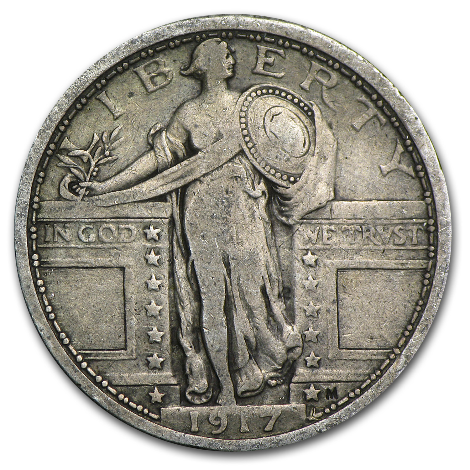 1917 Standing Liberty Quarter Type-I VF