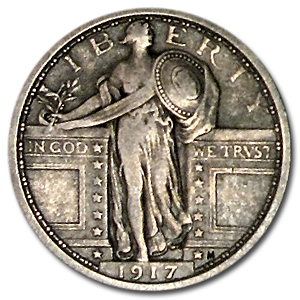 1917 (Variety I) Extra Fine Standing Liberty Quarter