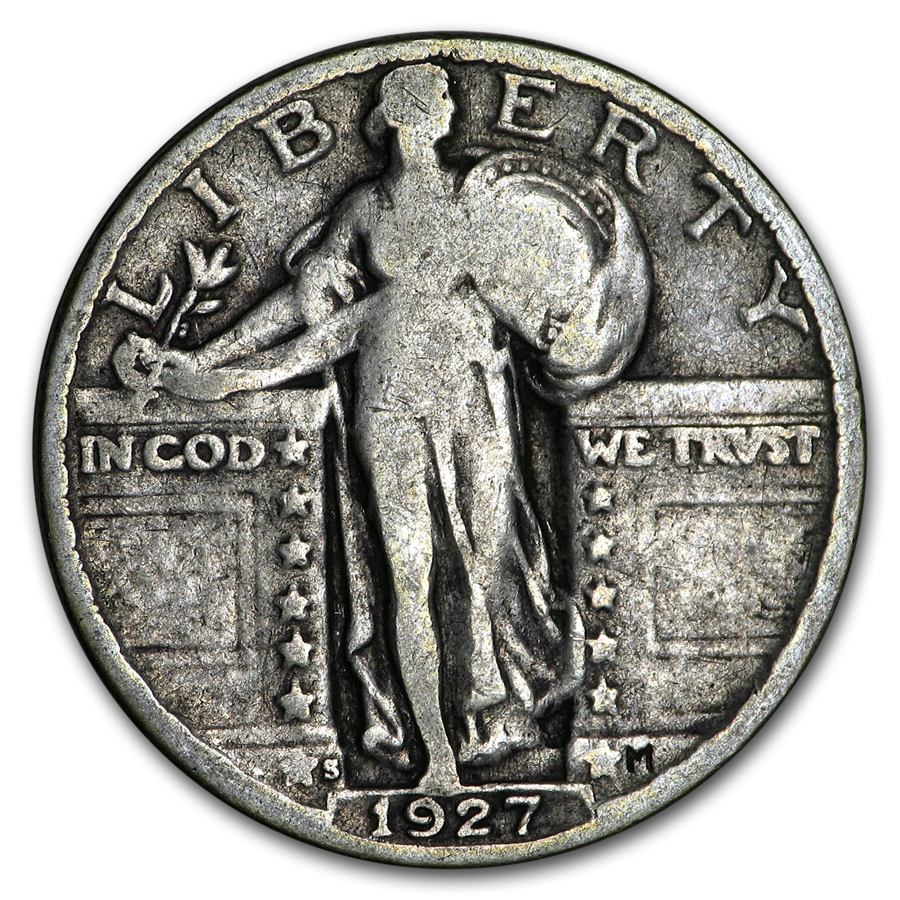 1927 S Standing Liberty Quarter Fine Silver Prices