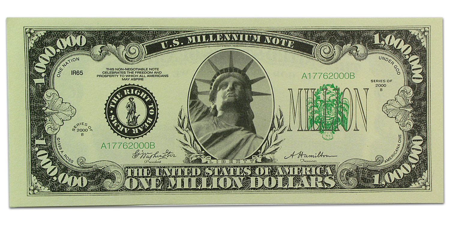 Novelty $1,000,000 Bills - Classic