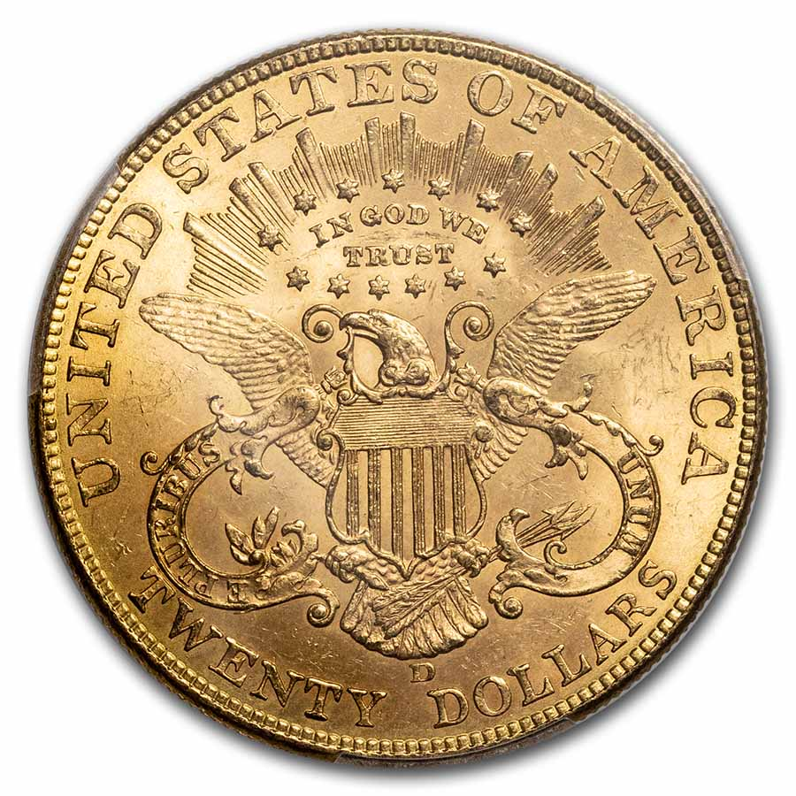 1907-D $20 Liberty Gold Double Eagle MS-63 PCGS