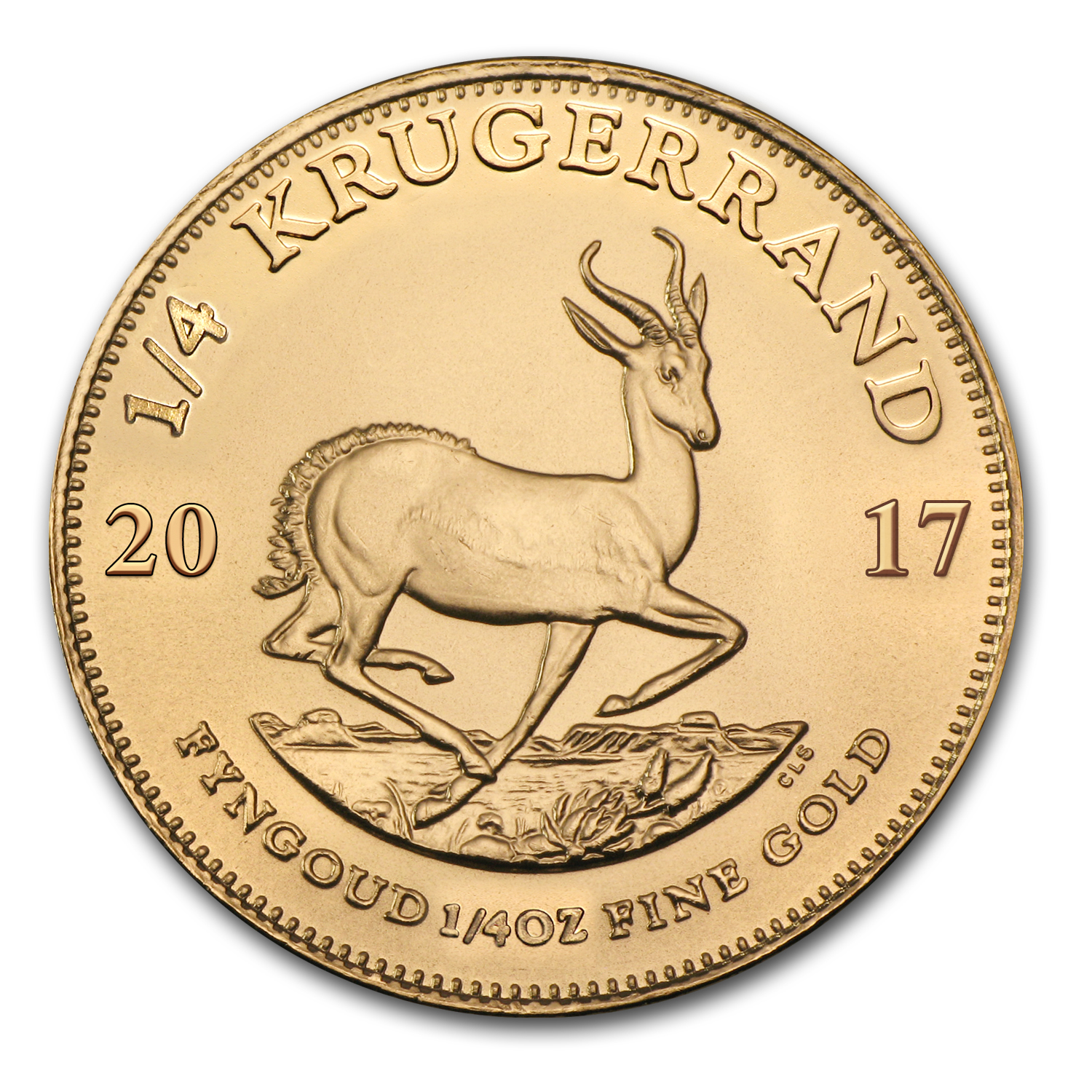 2017 South Africa 1/4 oz Gold Krugerrand