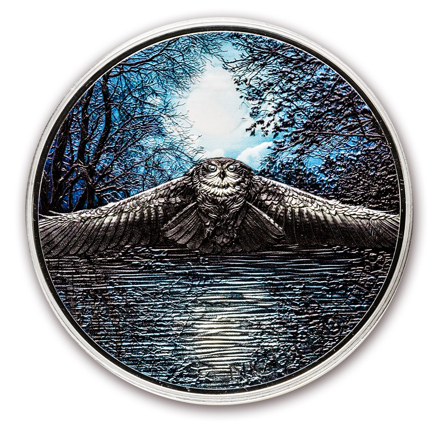 2017 Ivory Coast 3 oz Silver Night Hunters Nocturnal Owl
