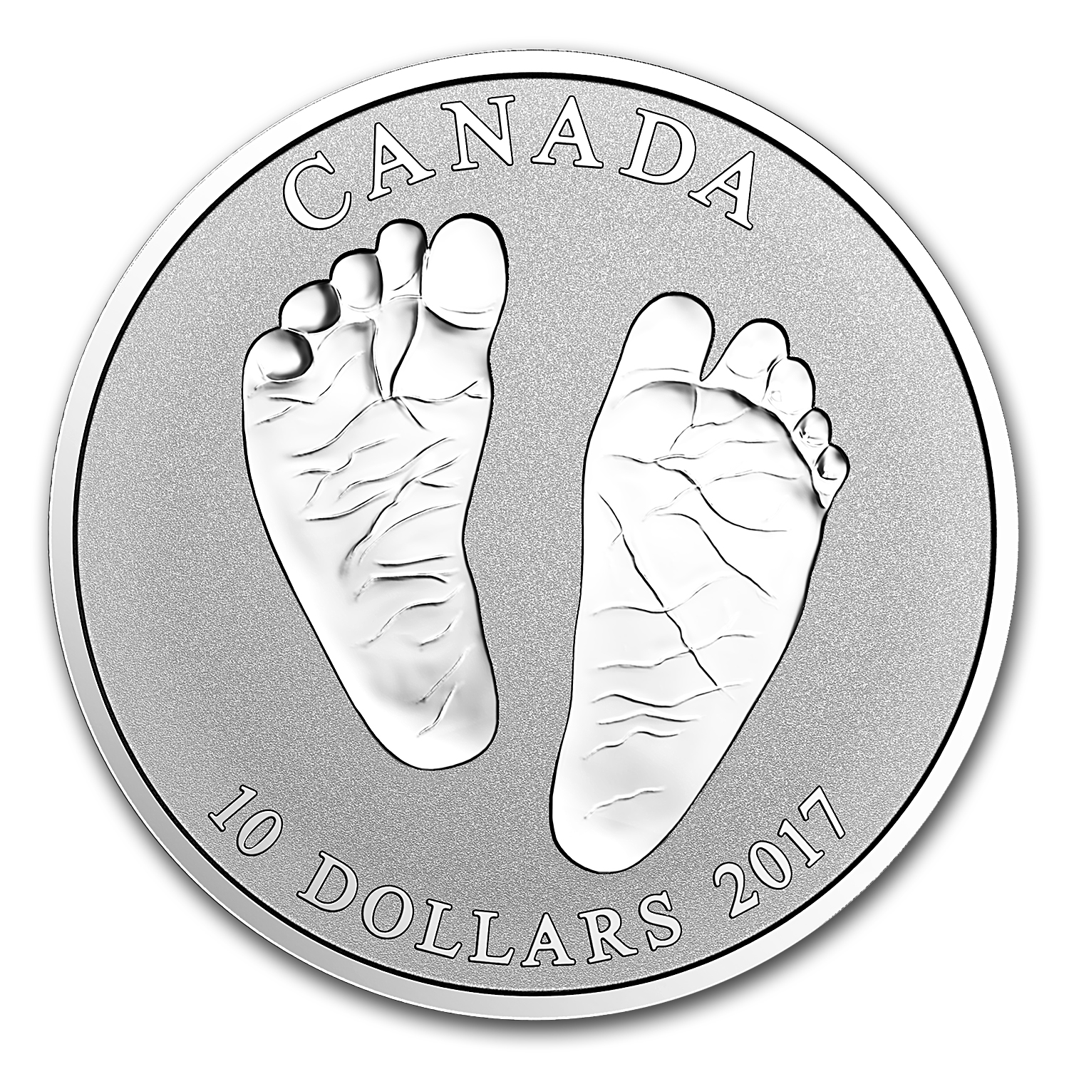 2017 Canada 1/2 oz Silver $10 Welcome Baby Reverse Proof