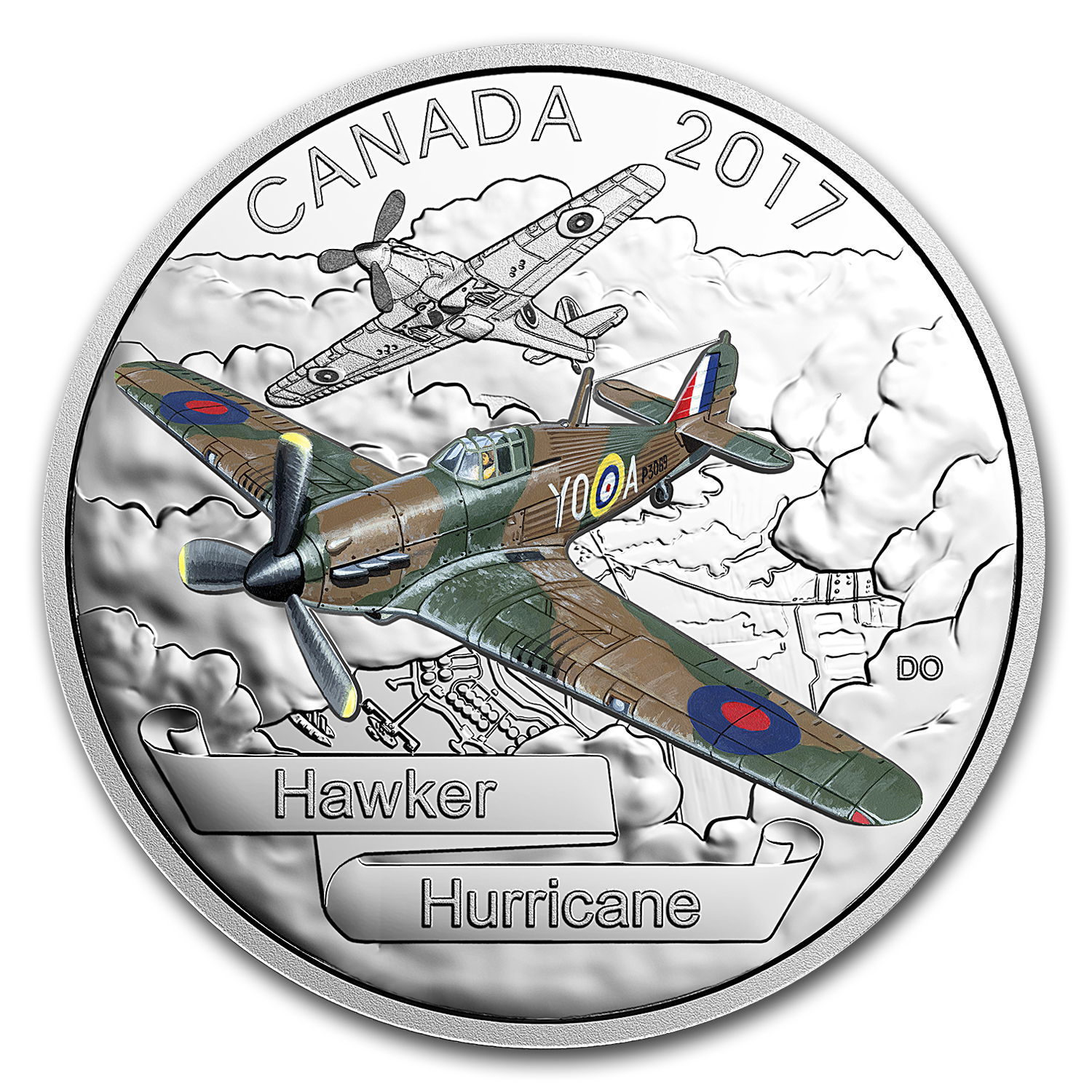 2017 Canada 1 oz Silver $20 Aircraft of WWII Hawker Hurricane