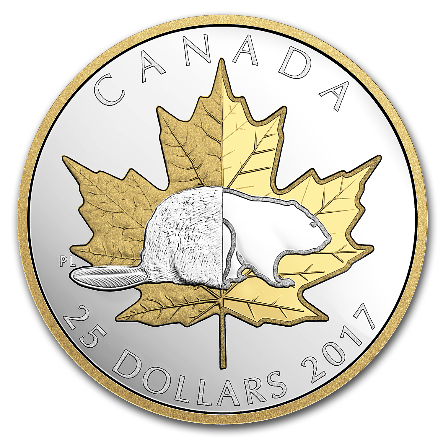 2017 Canada 1 oz Silver $25 Piedfort Timeless Icons