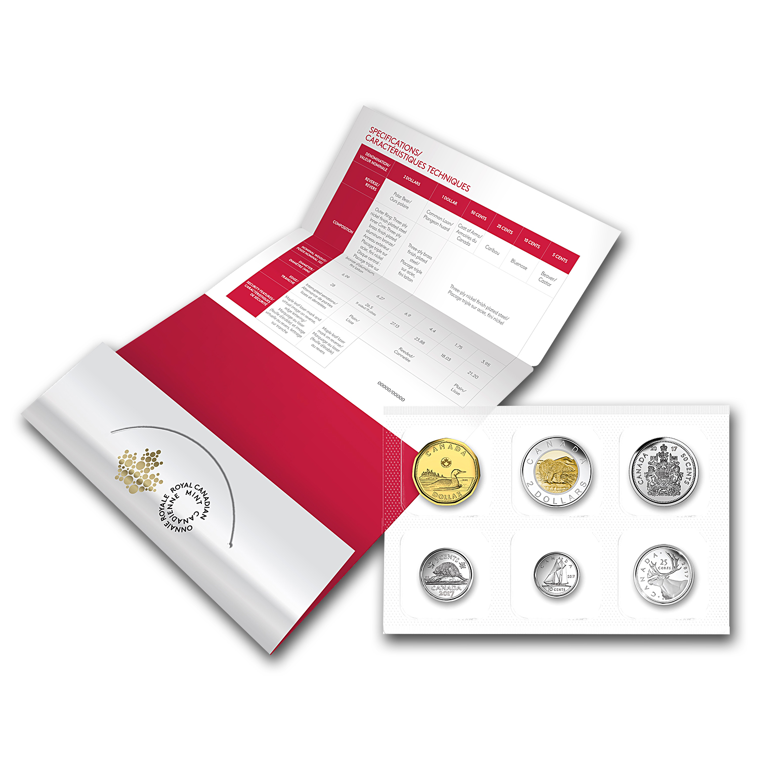 2017 6-Coin Classic Canadian Coin Set: 150th Anniversary