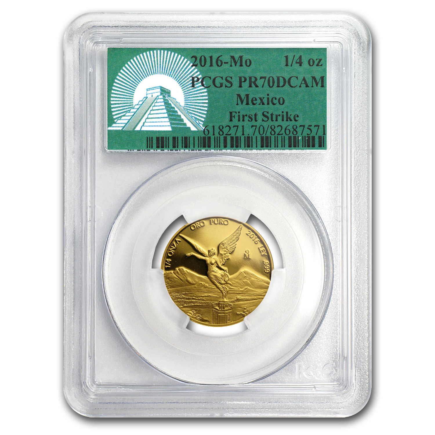 2016 Mexico 1/4 oz Gold Libertad PR-70 PCGS (FS, Green Label)