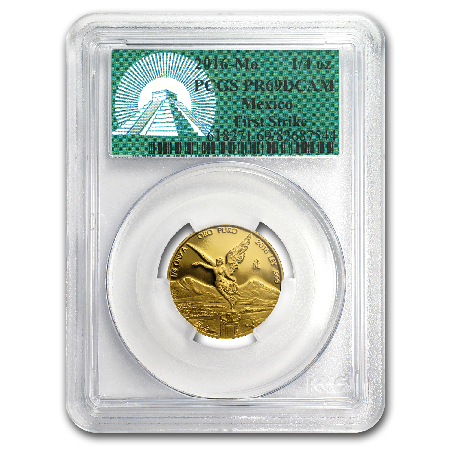 2016 Mexico 1/4 oz Gold Libertad PR-69 PCGS (FS, Green Label)