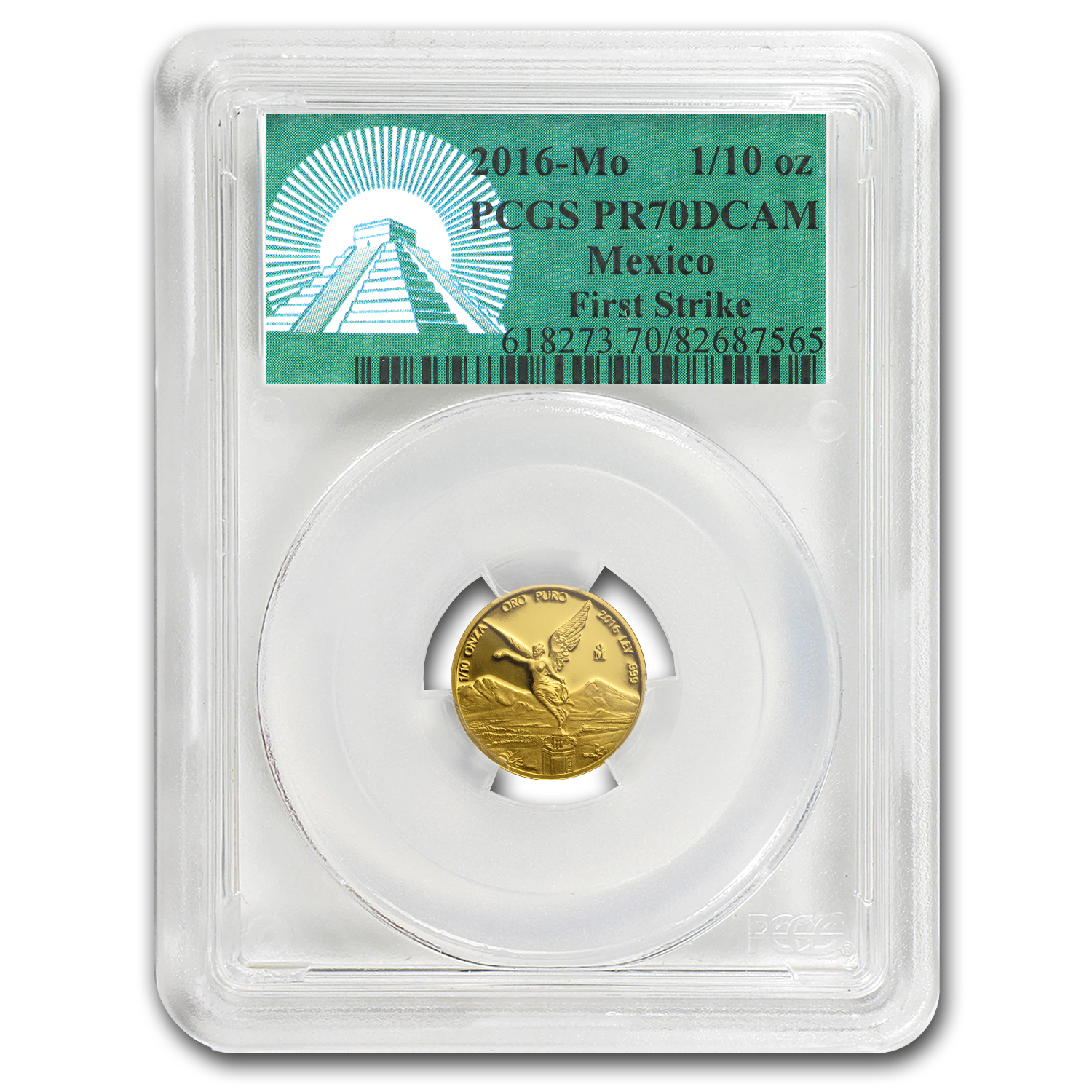 2016 Mexico 1/10 oz Gold Libertad PR-70 PCGS (FS, Green Label)