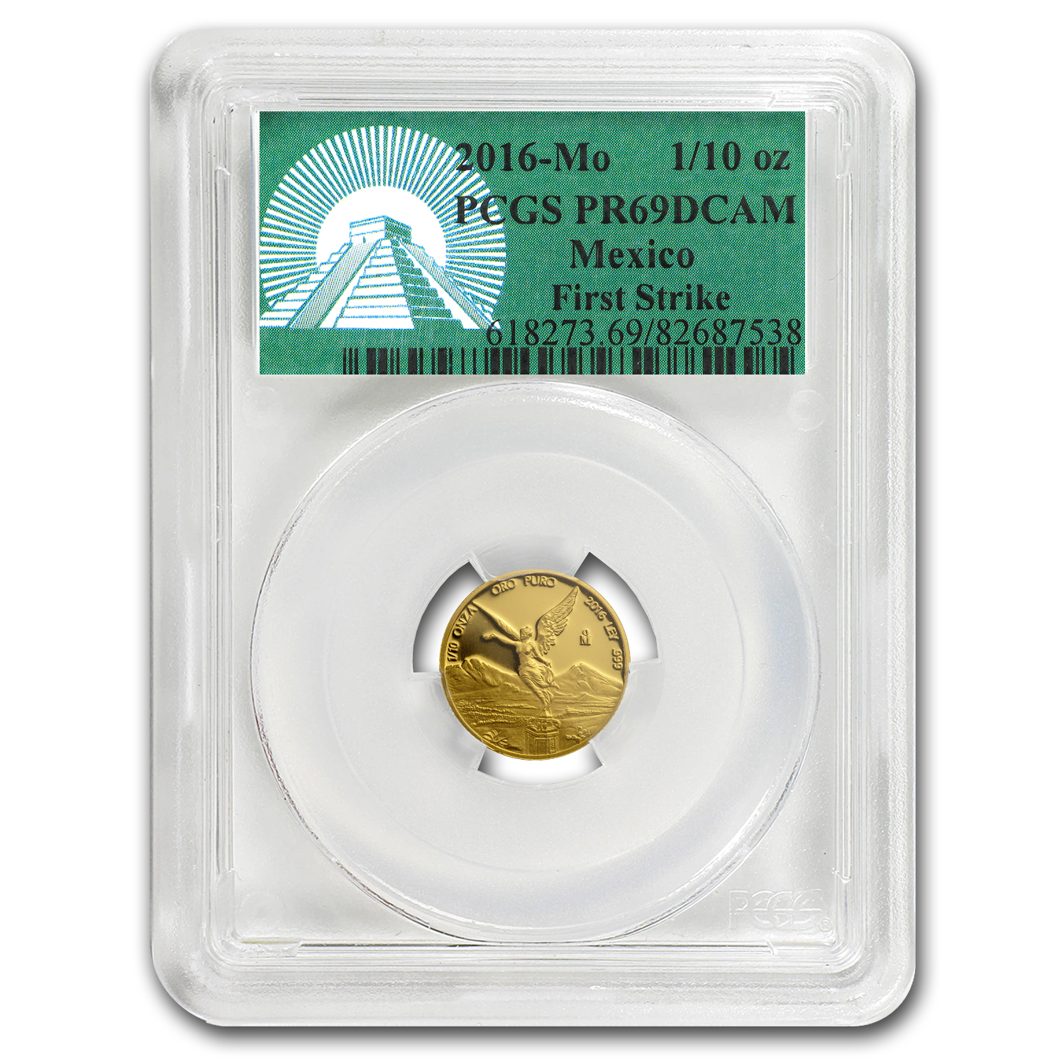 2016 Mexico 1/10 oz Gold Libertad PR-69 PCGS (FS, Green Label)