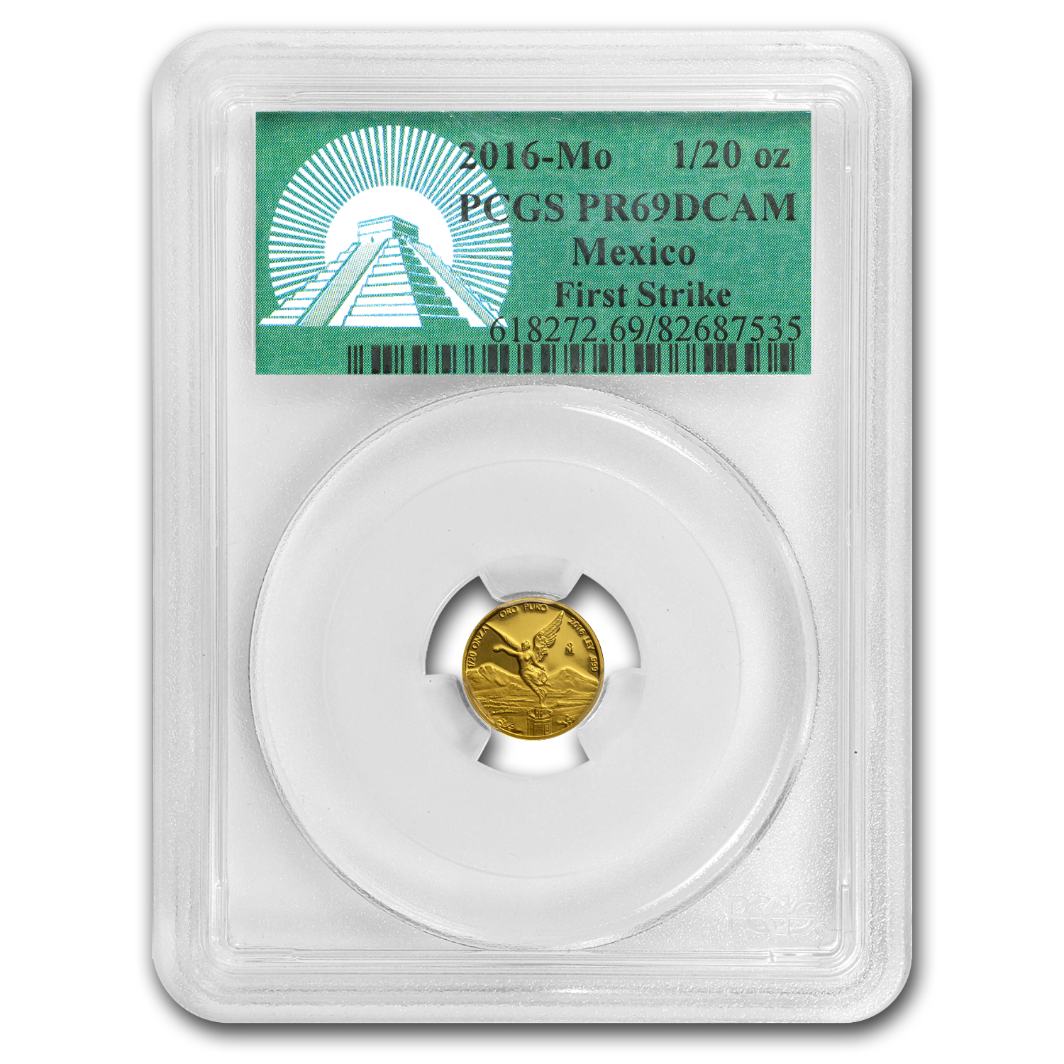 2016 Mexico 1/20 oz Gold Libertad PR-69 PCGS (FS, Green Label)