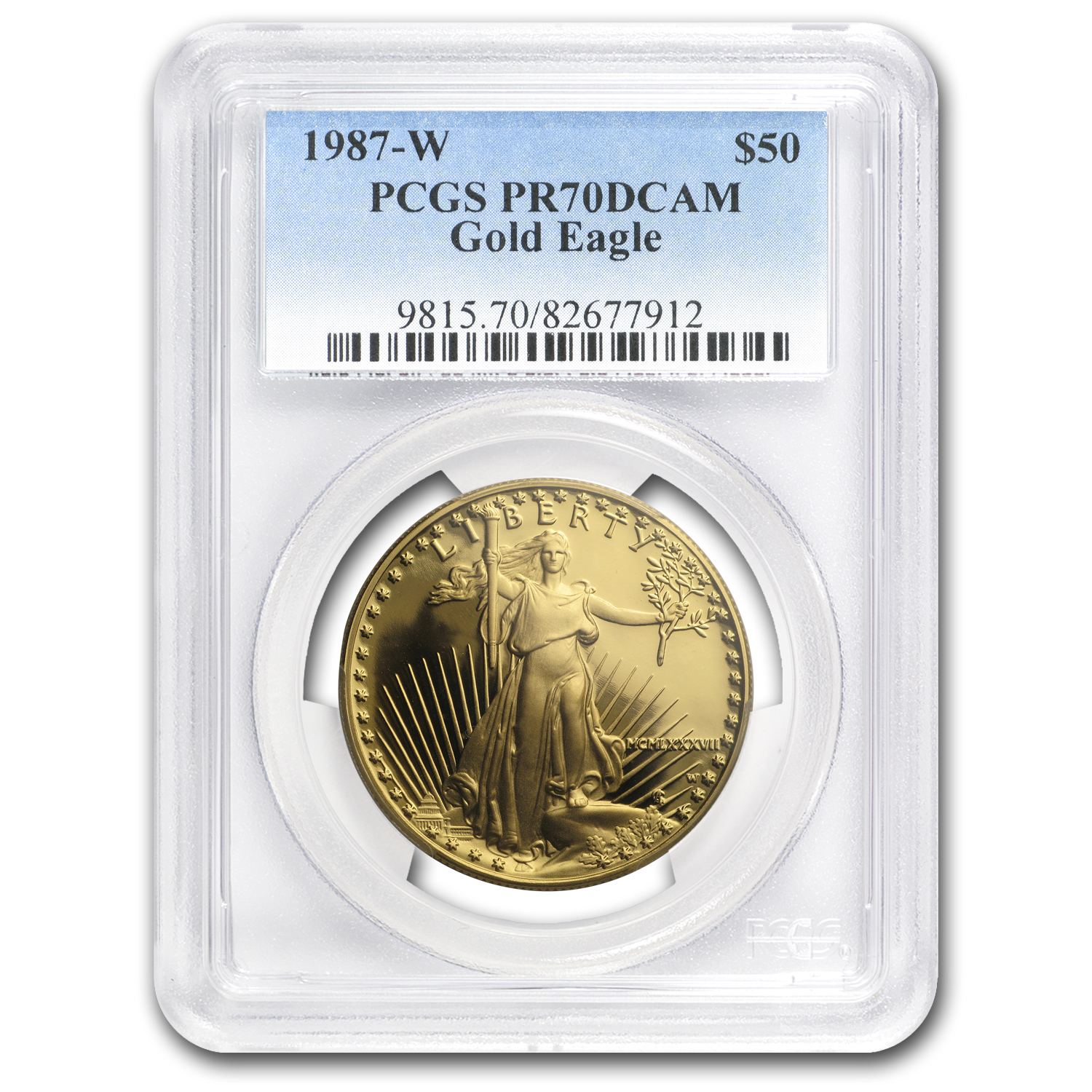 1987 2-Coin Proof Gold American Eagle Set PR-70 PCGS