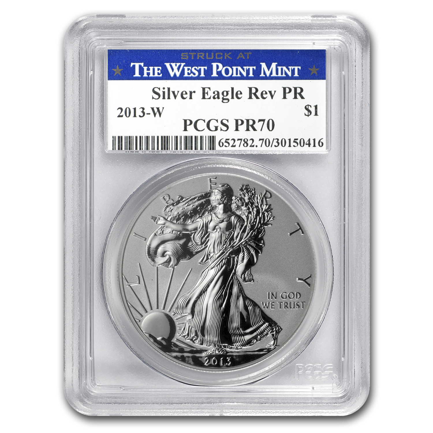 2013 2-Coin Silver American Eagle Set MS/PR-70 PCGS (Blue Label)