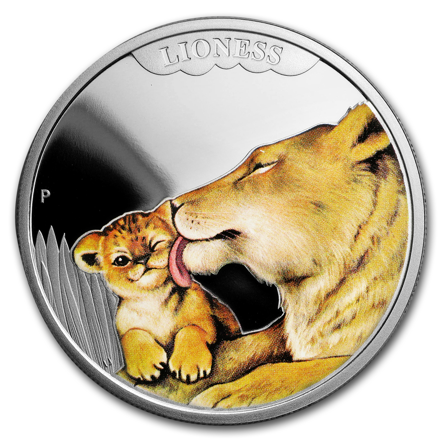 2014 Australia 1/2 oz Silver Mother's Love Prf; Lioness (Damage)