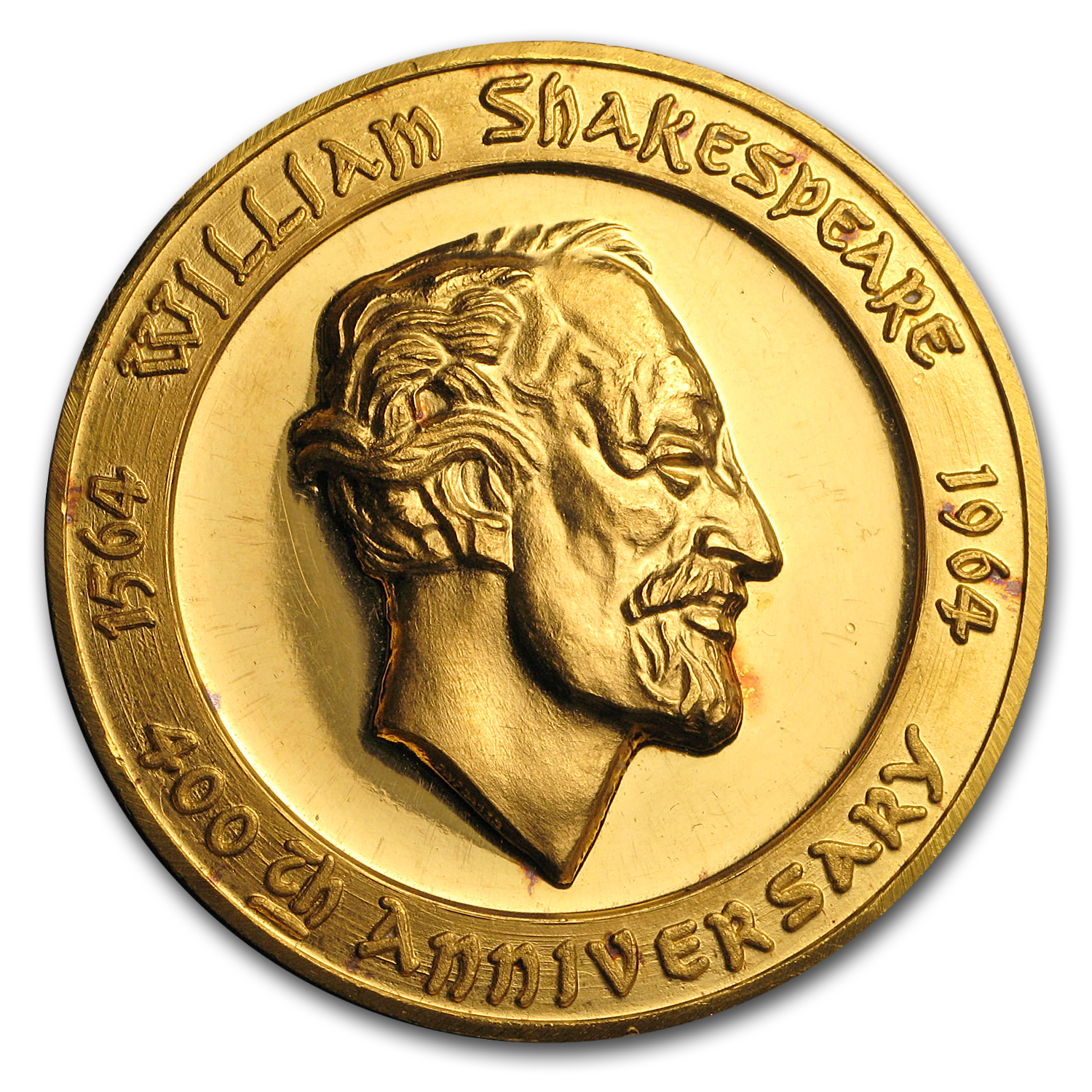 1964 Large Gold Medal: 400th Anniversary of Shakespeare's Birth