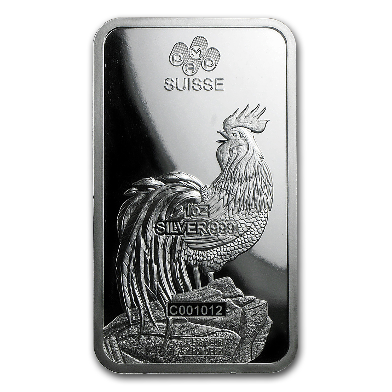 1 oz Silver Bar - PAMP Suisse Year of the Rooster (No Assay)