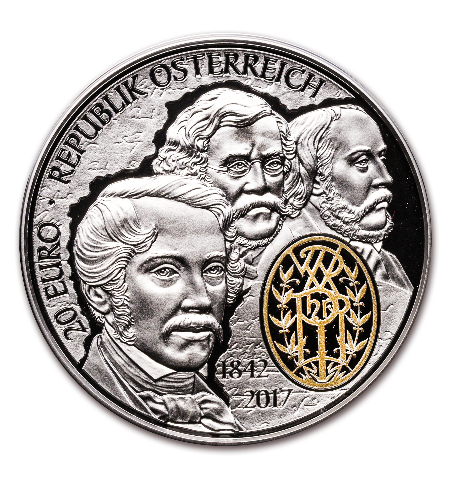 2017 Austria Prf Silver €20 175th Ann of Philharmonic Orchestra