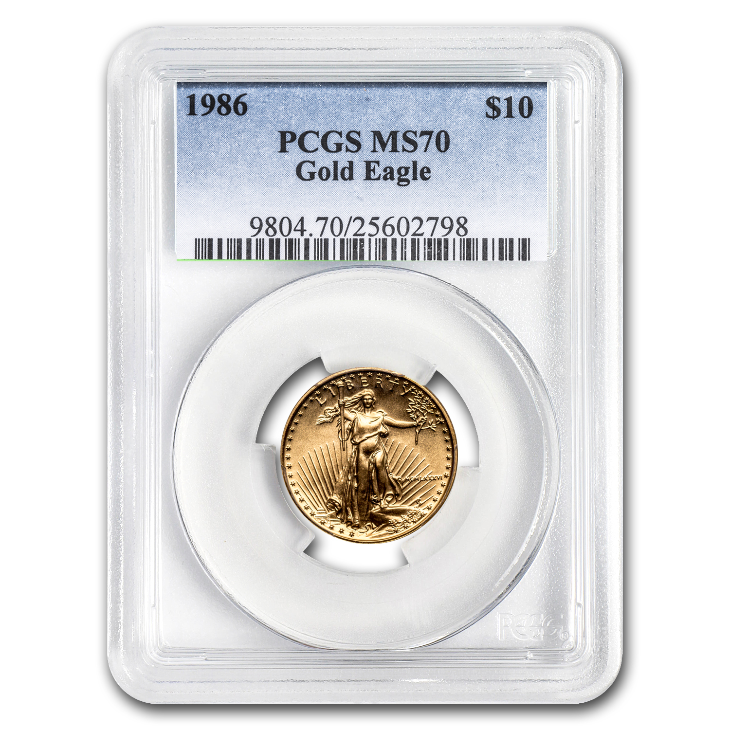 1986 1/4 oz Gold American Eagle MS-70 PCGS