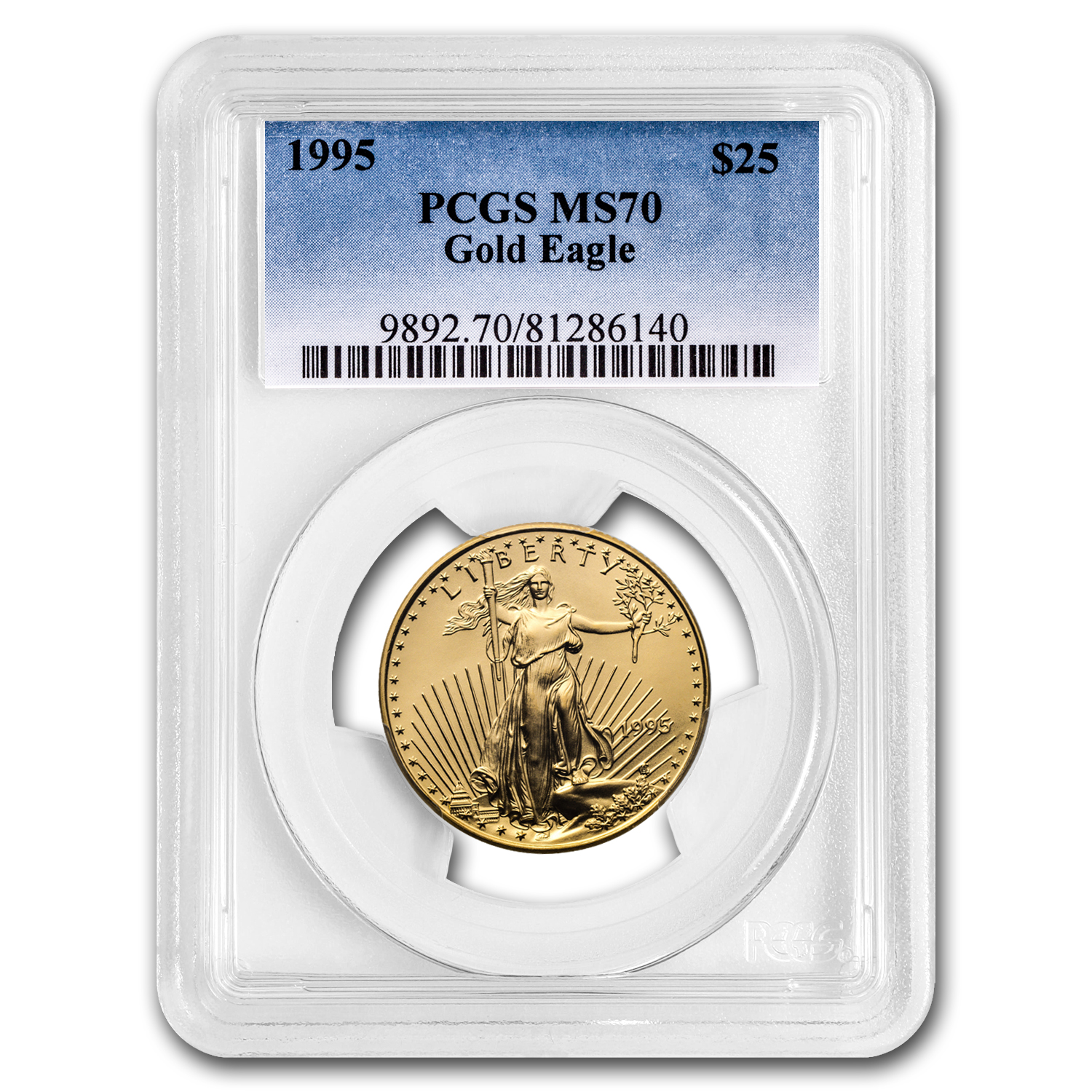 1995 1/2 oz Gold American Eagle MS-70 PCGS (Registry Set)