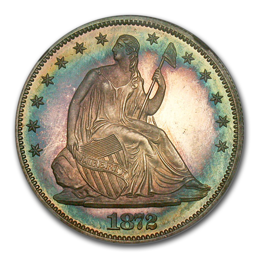 1872 Liberty Seated Half Dollar PF-67* Star Cameo NGC